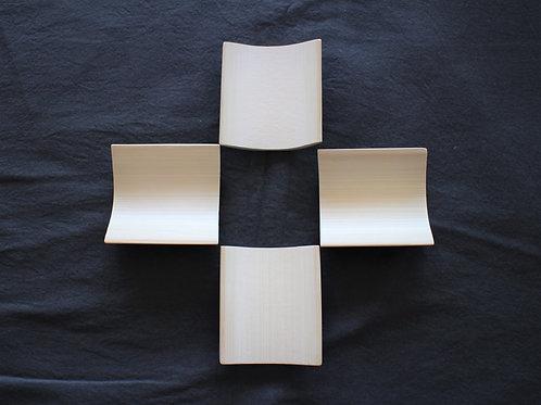 竹皿セットSQ(9㎝×4枚)
