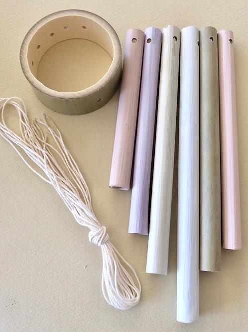 竹のウィンドチャイムキット(ナチュラル暖色系カラー)