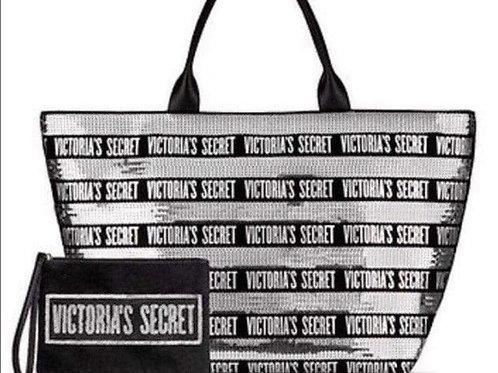 Victoria's Secret Zippered Sequin Tote Wristlet