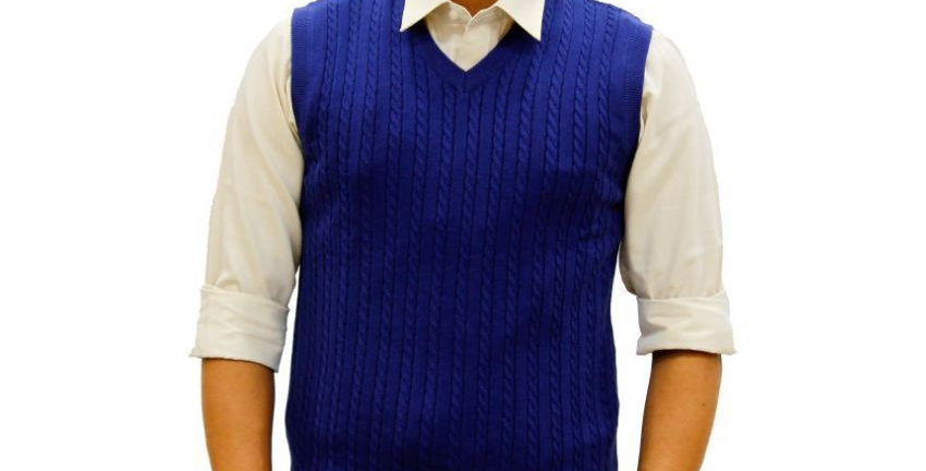 Maxexcel Blue V Neck Sweater