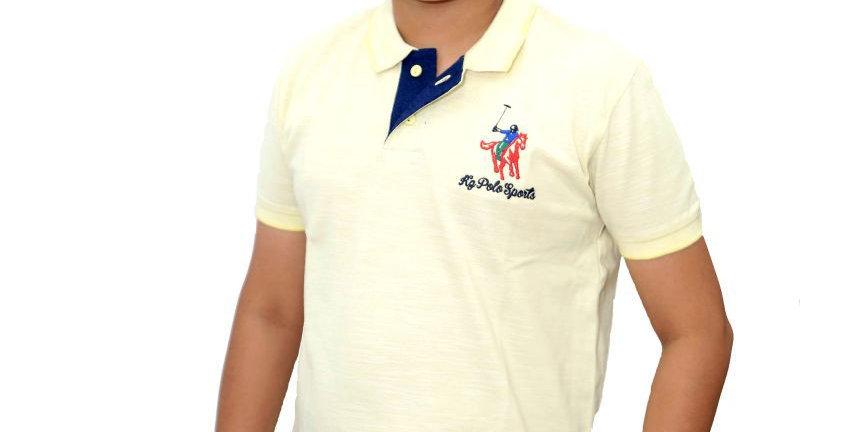 Krazy Gang Polo Neck Boys' Cotton T-Shirt