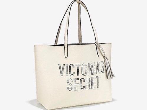 Victoria's Secret White Faux Leather Tote