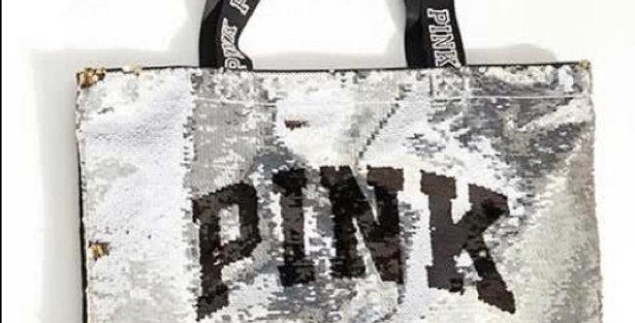 Pink Victoria's Secret Zippered Tote Bag NIP