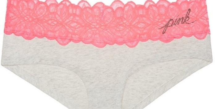 Pink Victoria's Secret Lace Trim Hipster NWT