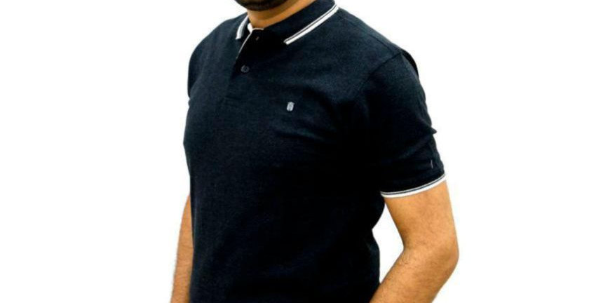 Maxexcel Black Regular Fit Polo T Shirt