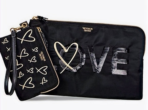 Victoria's Secret Love Clutch Duo NWT