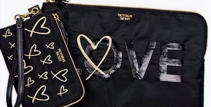 Victoria's Secret Love Clutch Duo NWT