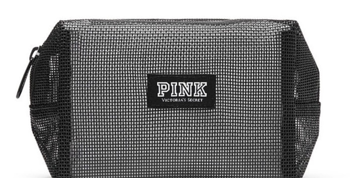 Pink Victoria's Secret Mesh Tech Pouch NIP