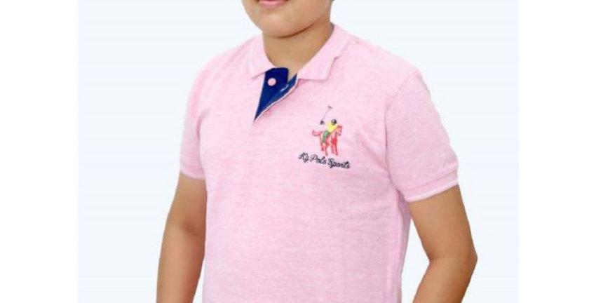 Krazy Gang Boys' Plain Polo Neck T-Shirt