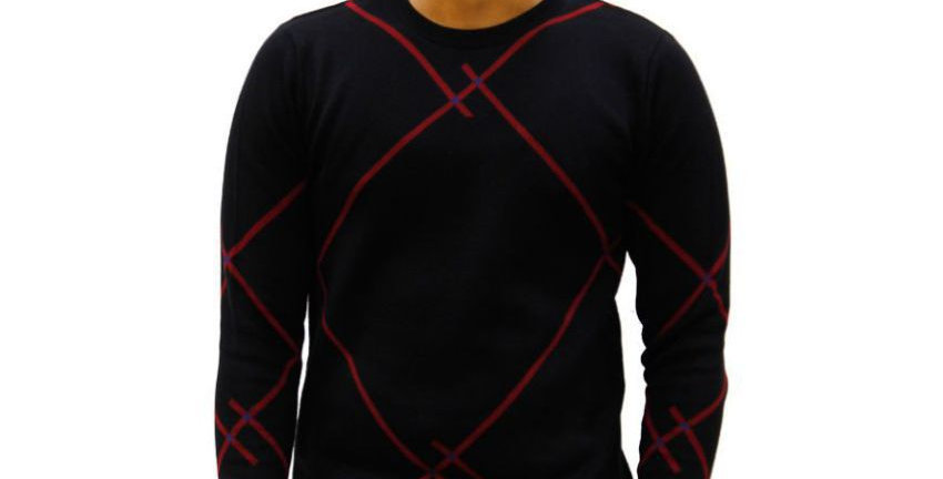 Maxexcel Black Round Neck Sweater