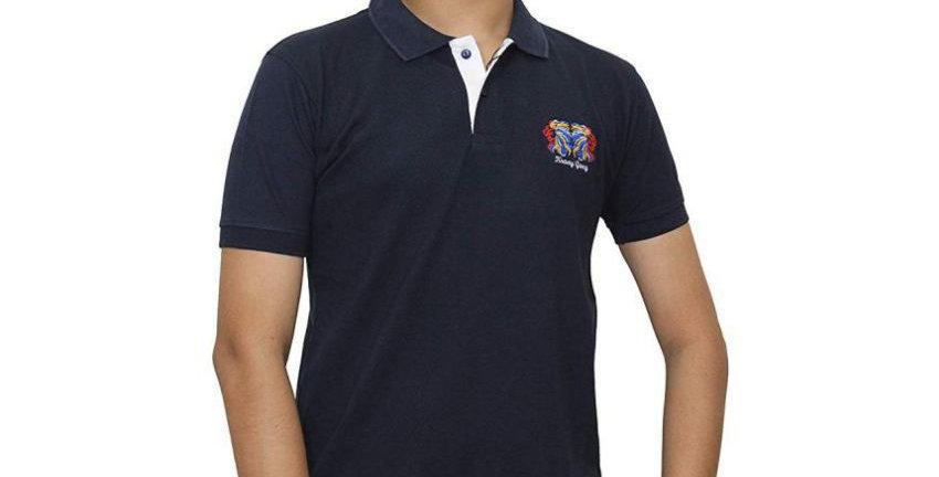 Maxexcel Black Regular Fit Polo T-Shirt