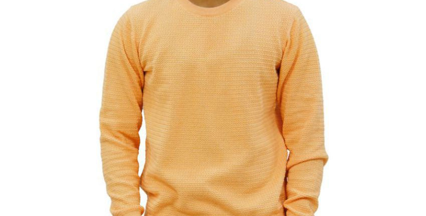 Maxexcel Peach Round Neck Sweater