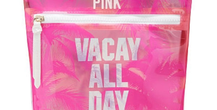 Pink Victoria's Secret Vacay All Day Pouch NWT