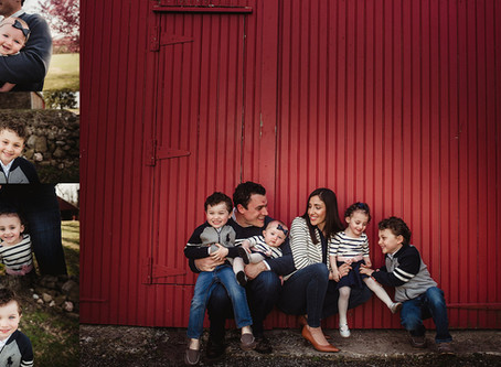 The Brown Family | Spring Family Portraits Blue Bell PA