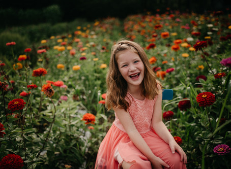 Zinnia Field Mini Sessions in Plymouth Meeting, PA