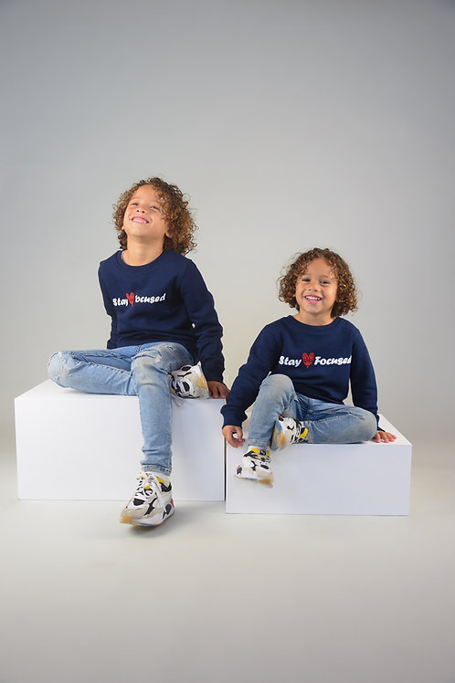 Navy Blue Focused Sweatshirt Kids