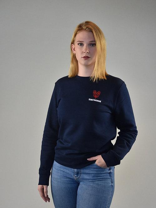 Navy Blue Focused Sweatshirt