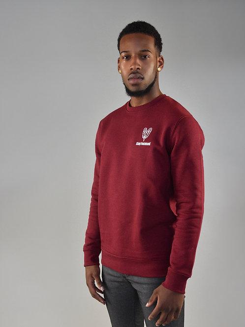 Burgundy Focused Sweatshirt