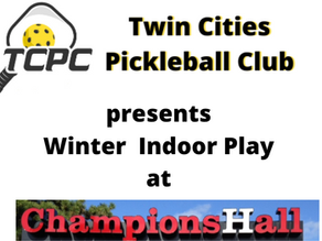 Indoor Pickleball at Champions Hall via Online Reservations Resumes