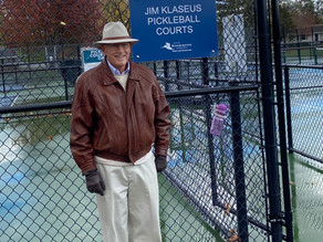 "BLOOMINGTON PICKLEBALL COURTS NOW NAMED ""THE JIM KLASEUS COURTS"""