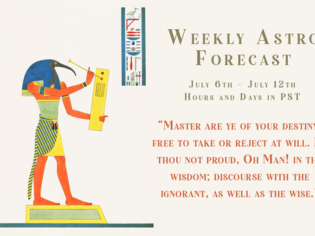 Mercury stations direct, Your Weekly Forecast 7/5 - 7/12
