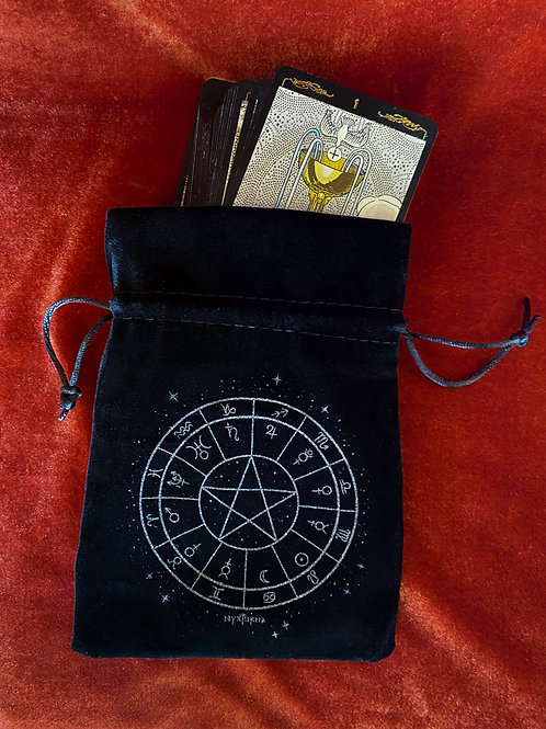 Astrology Pentacle Tarot Pouch