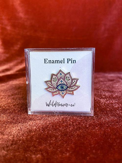 Lotus Evil Eye Pin