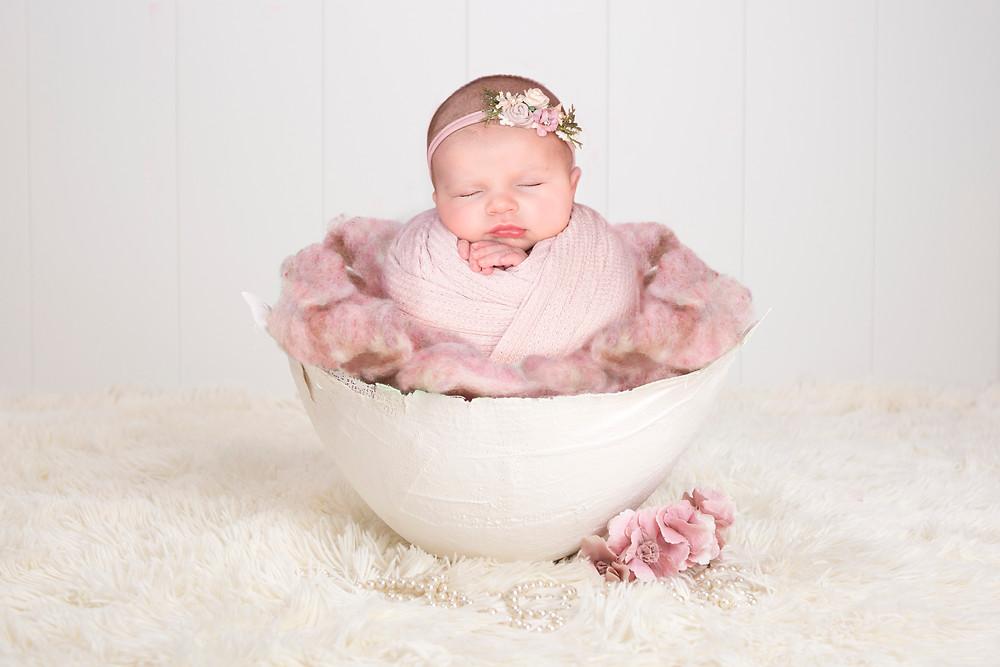 charlottesville newborn photographer potato sack