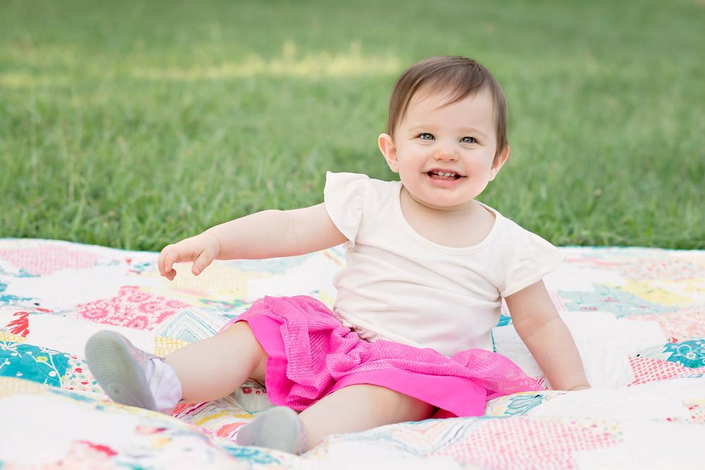 baby spring quilt milestone