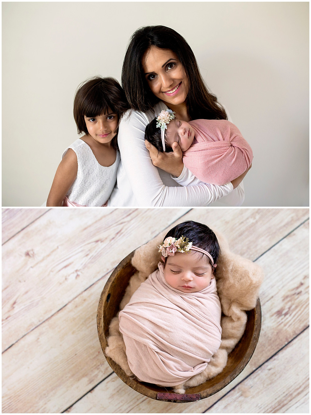 family posing newborn photographer