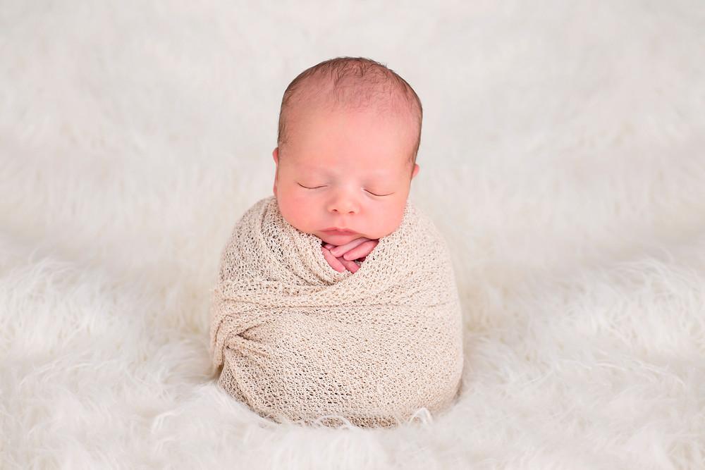 potato sack pose newborn photography