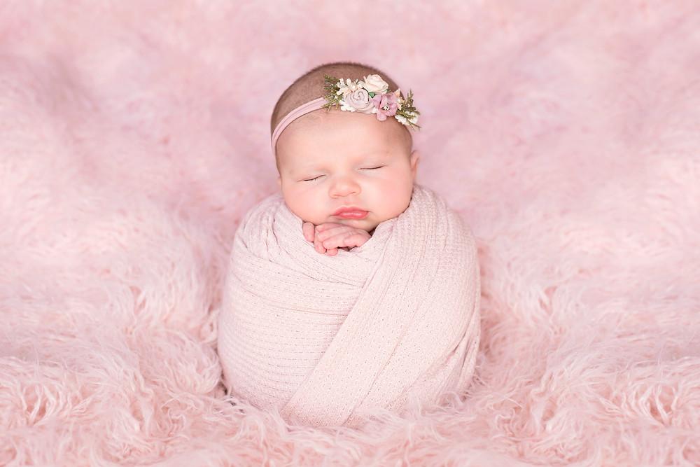 baby girl potato sack pose