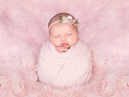 Sweet Ellie - An Older Newborn | Charlottesville Newborn Photographer