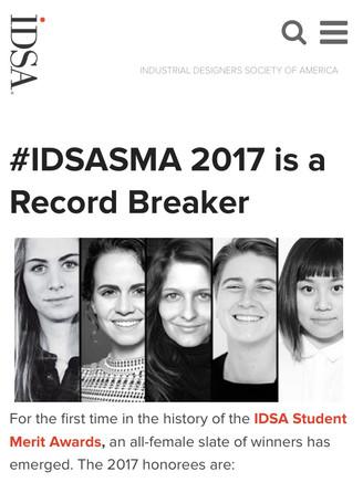 【校友成就】梁海童 ∥ 美國INDUSTRIAL DESIGNERS SOCIETY OF AMERICA (IDSA) 學生優秀獎