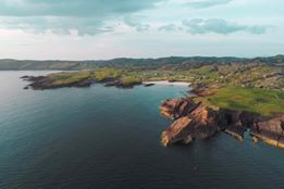 Aerial view Clachtoll