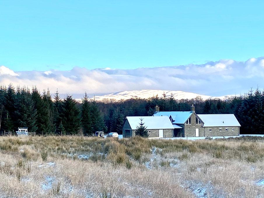 Lodge and Bothy at Muir Estate at the fo