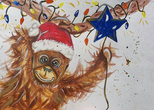 Festive Monkey Christmas Cards