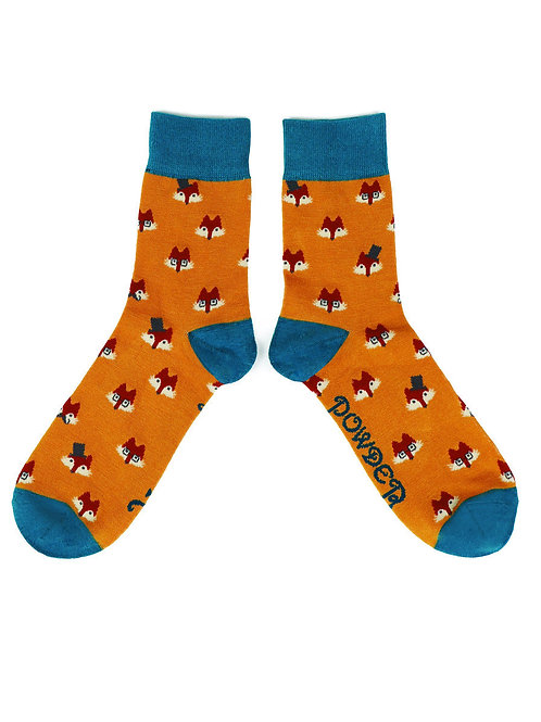 Fox Faces Mens Socks
