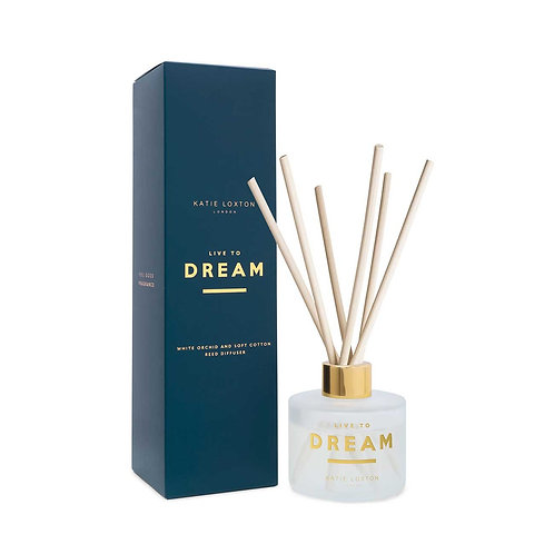 Katie Loxton - 'Live to Dream' Reed Diffuser - White Orchid & Soft Cotton