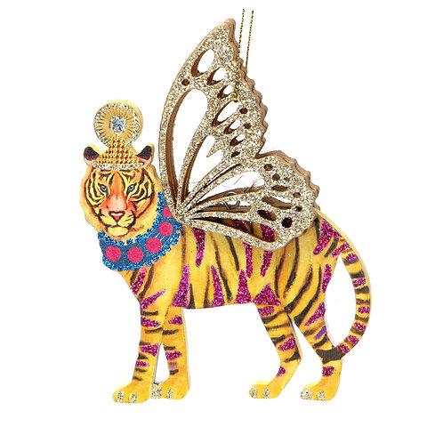 Wooden Fretwork Tiger Decoration