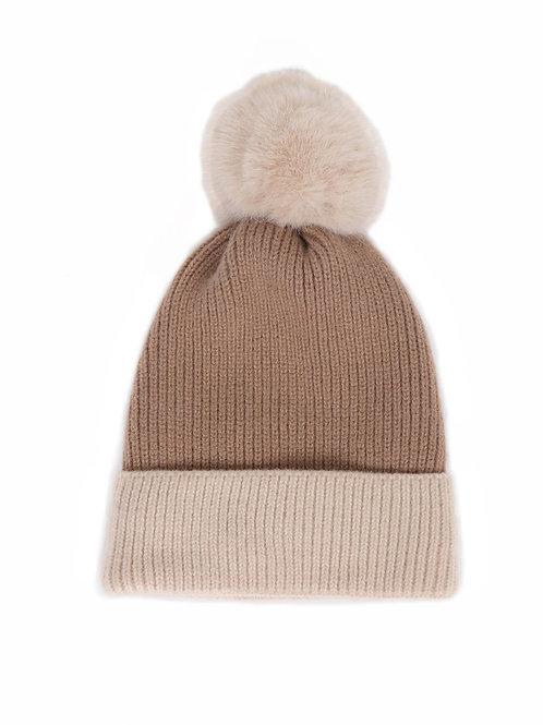 Bonnie Pom Pom Hat - Stone