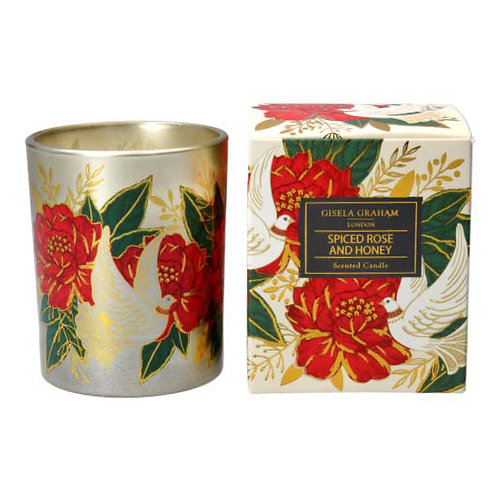 Doves and Roses Boxed Candle Pot - Large