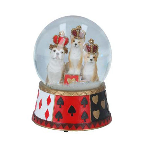 Royal Dogs Musical Snow Globe