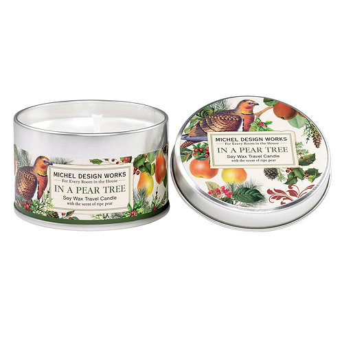 In a Pear Tree Travel Candle