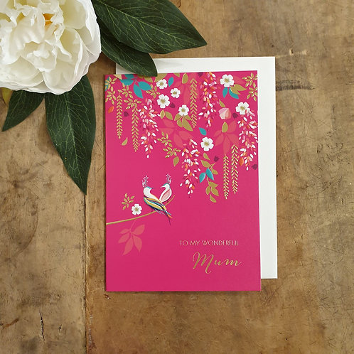 'To my wonderful Mum' - Mother's Day Card