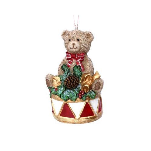 Teddy on Drum Decoration