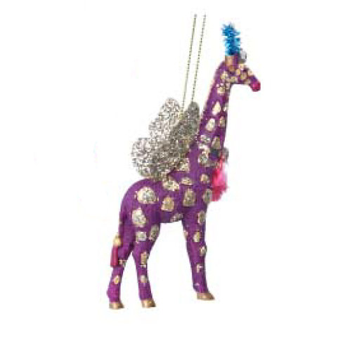 Fantasy Giraffe Decoration - Purple