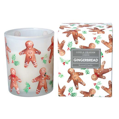 Gingerbread Men Boxed Candle Pot - Small