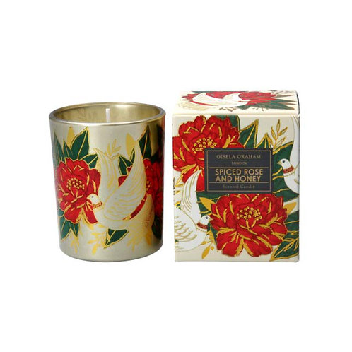 Doves and Roses Boxed Candle Pot - Small