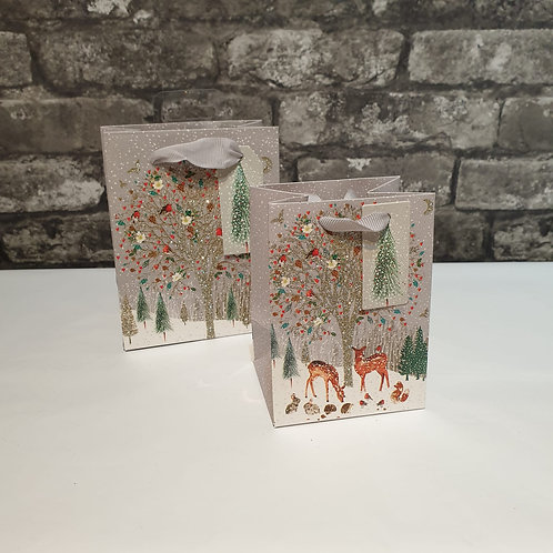 Luxury Small Sparkly Tree Scene Gift Bag